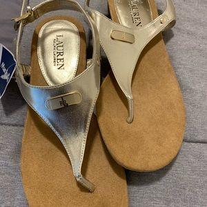 Gold Ralph Lauren Sandals